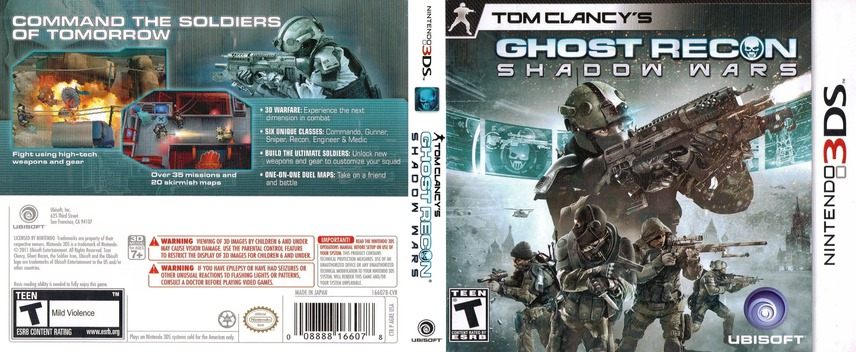 Tom Clancy's Ghost Recon - Shadow Wars 3DS coverfullM (AGRE)
