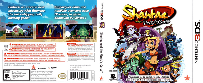 Shantae and the Pirate's Curse 3DS coverfullM (AJAE)