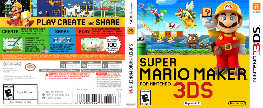 Super Mario Maker for Nintendo 3DS 3DS coverfullM (AJHE)
