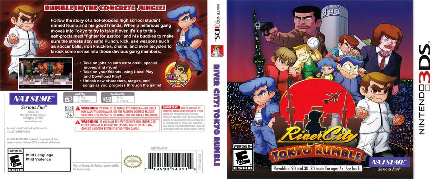 River City: Tokyo Rumble 3DS coverfullM (AK2E)