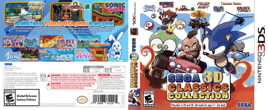 Sega 3D Classics Collection 3DS coverfullM (AK3E)