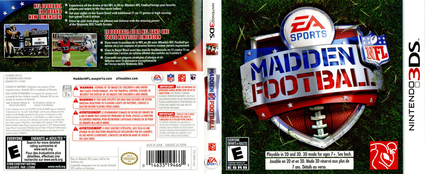 Madden NFL Football 3DS coverfullM (AMDE)