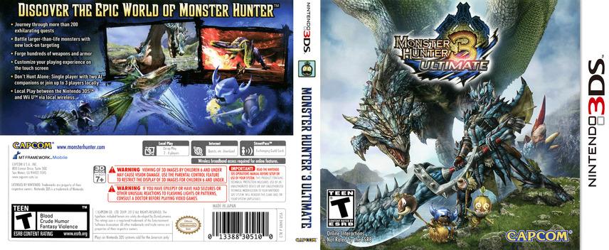 Monster Hunter 3 Ultimate 3DS coverfullM (AMHE)