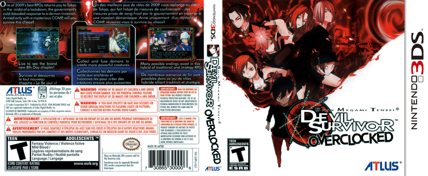 Shin Megami Tensei - Devil Survivor Overclocked 3DS coverfullM (AMTE)