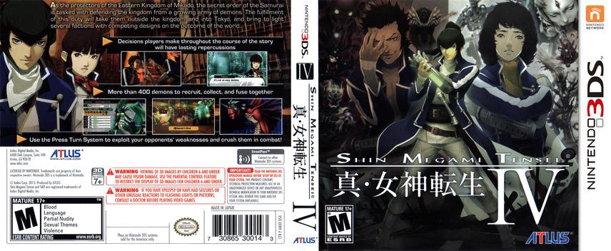 Shin Megami Tensei IV 3DS coverfullM (AMXE)