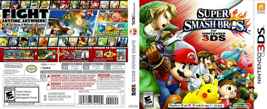 Super Smash Bros. for Nintendo 3DS 3DS coverfullM (AXCE)