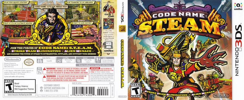 Code Name: S.T.E.A.M. 3DS coverfullM (AY6E)