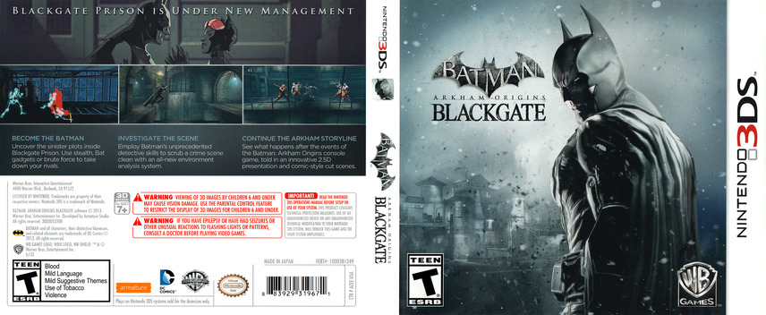 Batman - Arkham Origins Blackgate 3DS coverfullM (AZEE)