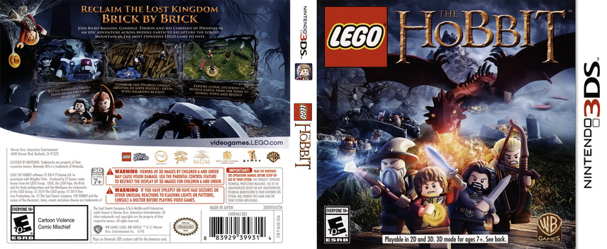 LEGO The Hobbit 3DS coverfullM (BLHE)