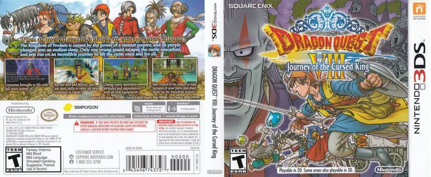 Dragon Quest VIII: Journey of the Cursed King 3DS coverfullM (BQ8E)