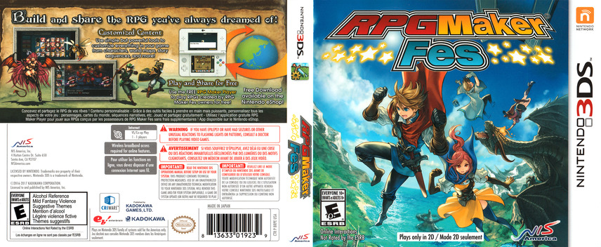 RPG Maker Fes 3DS coverfullM (BRPE)