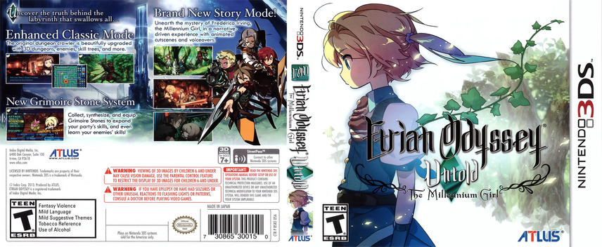 Etrian Odyssey Untold - The Millennium Girl 3DS coverfullM (BSKE)