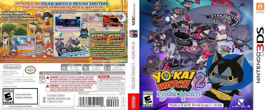 Yo-Kai Watch 2: Psychic Specters 3DS coverfullM (BYSE)