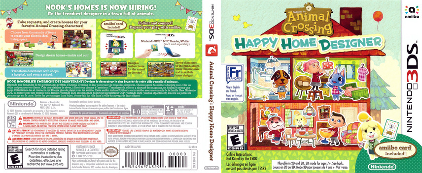 Animal Crossing - Happy Home Designer 3DS coverfullM (EDHE)