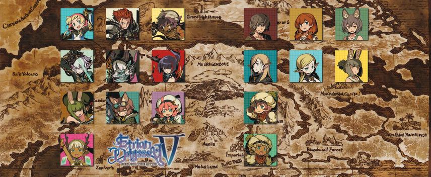 Etrian Odyssey V: Beyond the Myth 3DS coverfullM2 (BMZE)
