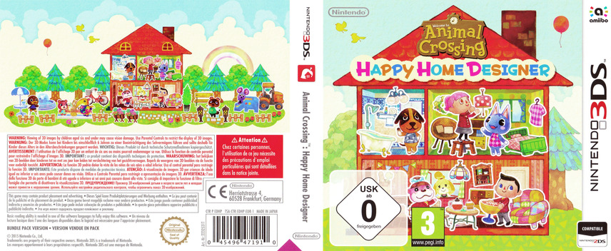 Animal Crossing - Happy Home Designer 3DS coverfullMB (EDHP)