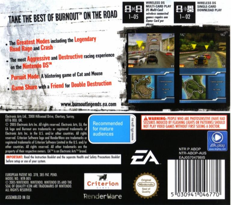 Burnout Legends DS backHQ (ABOP)
