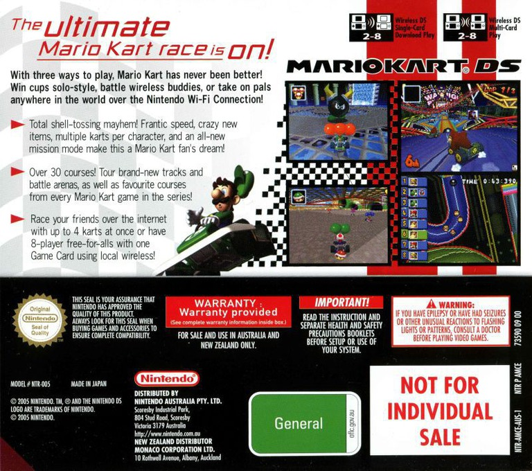 Mario Kart DS DS backHQ (AMCP)