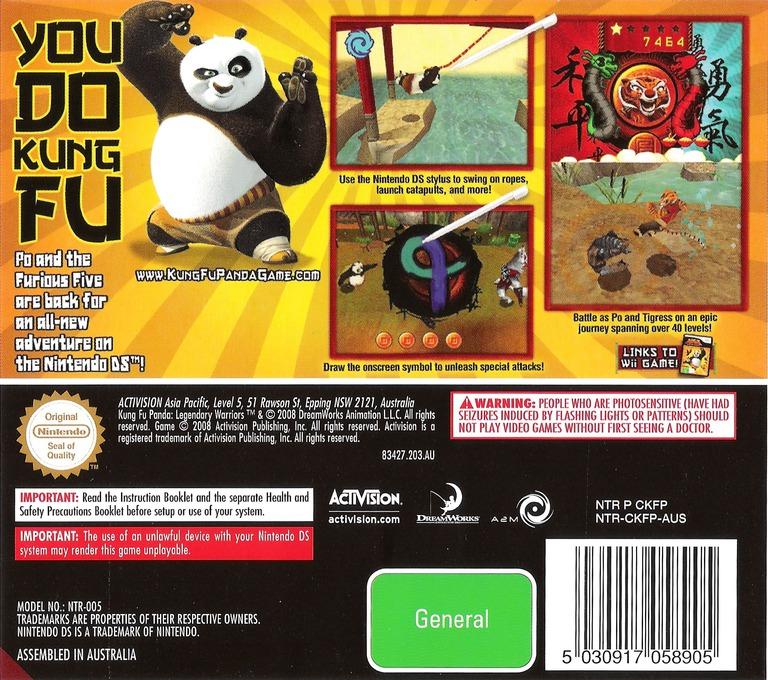Kung Fu Panda - Legendary Warriors DS backHQ (CKFP)