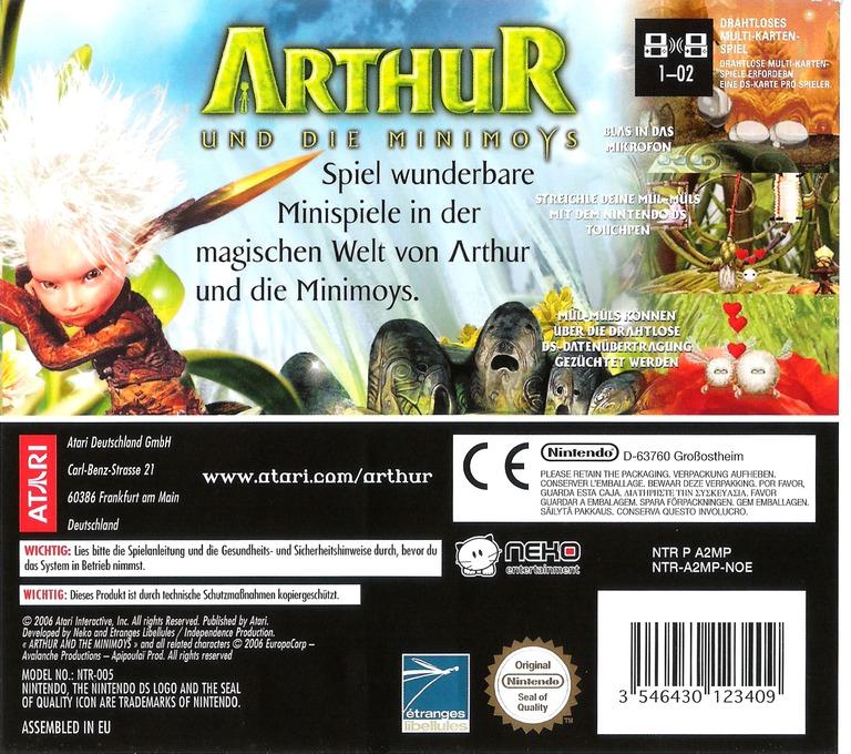 Arthur und die Minimoys DS backHQ (A2MP)