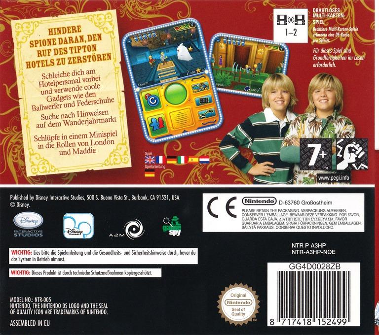 Hotel Zack & Cody - Kreis der Spione DS backHQ (A3HP)