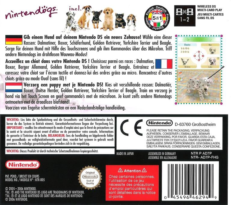 Nintendogs - Dalmatiner & Freunde DS backHQ (AD7P)