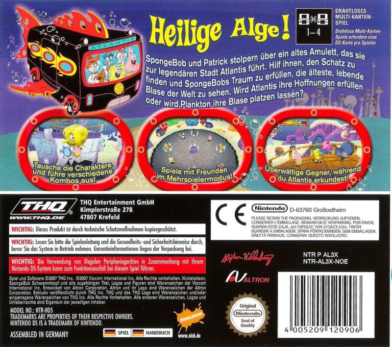 SpongeBob's Atlantisches Abenteuer DS backHQ (AL3X)