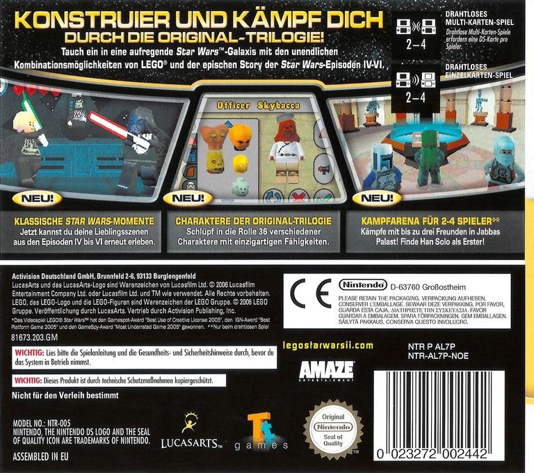 LEGO Star Wars II - Die klassische Trilogie DS backHQ (AL7P)