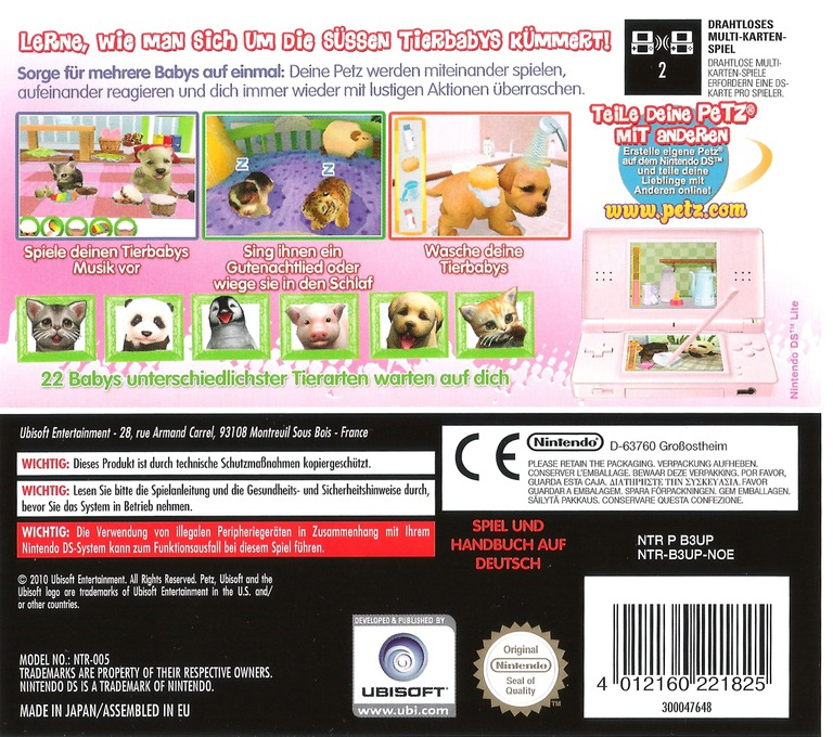 Petz - Tierbaby-Schule DS backHQ (B3UP)