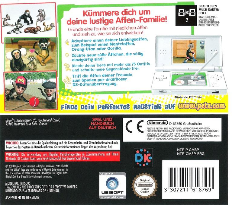 Petz - Meine Affen-Fanilie DS backHQ (CM8P)