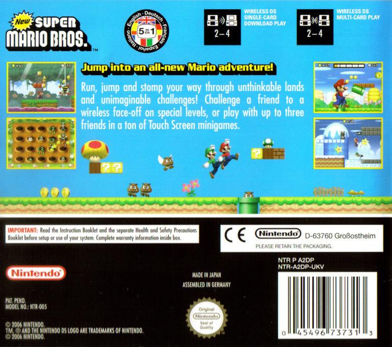 New Super Mario Bros. DS backHQ (A2DP)