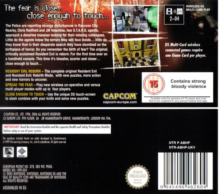 Resident Evil - Deadly Silence DS backHQ (ABHP)