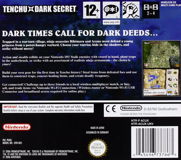 Tenchu - Dark Secret DS backHQ (ACUX)