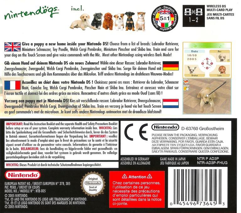 Nintendogs - Labrador & Friends DS backHQ (AD3P)