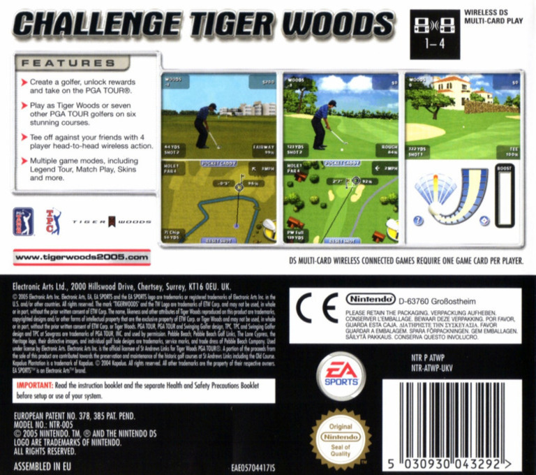 Tiger Woods PGA Tour DS backHQ (ATWP)
