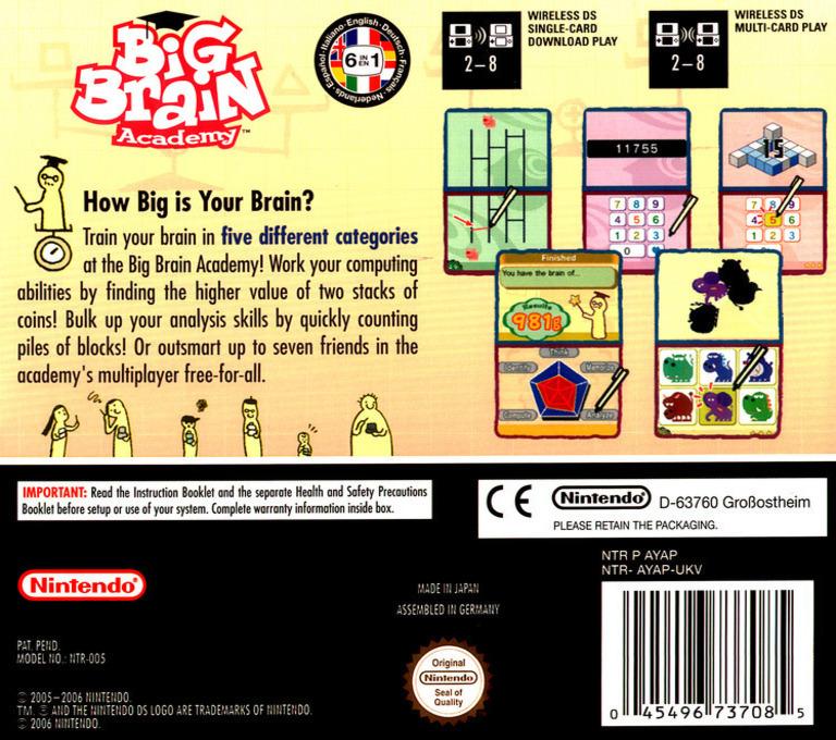 Big Brain Academy DS backHQ (AYAP)