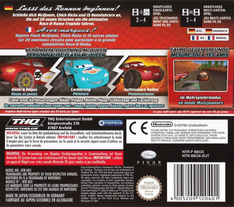 Cars - Race-O-Rama DS backHQ (B6OX)