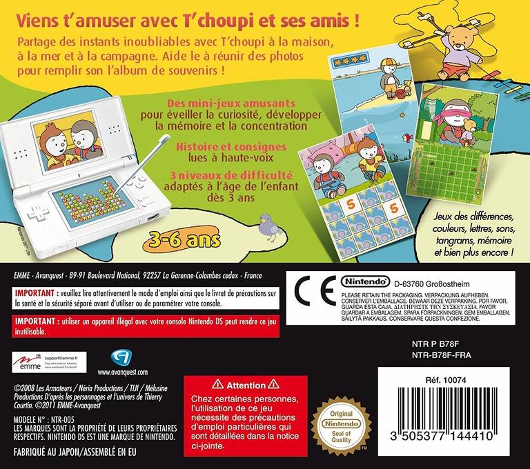 Les Nouvelles Aventures de T'choupi et Ses Amis DS backHQ (B78F)