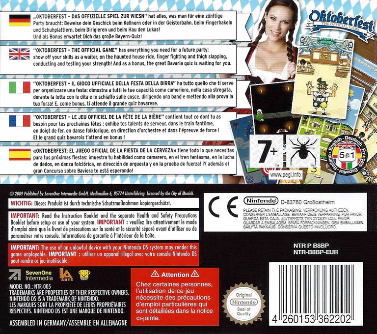 Oktoberfest - The Official Game DS backHQ (B8BP)