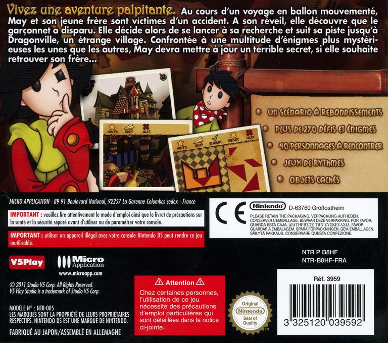 Les Aventures de May - L'Etrange Disparition DS backHQ (B8HF)
