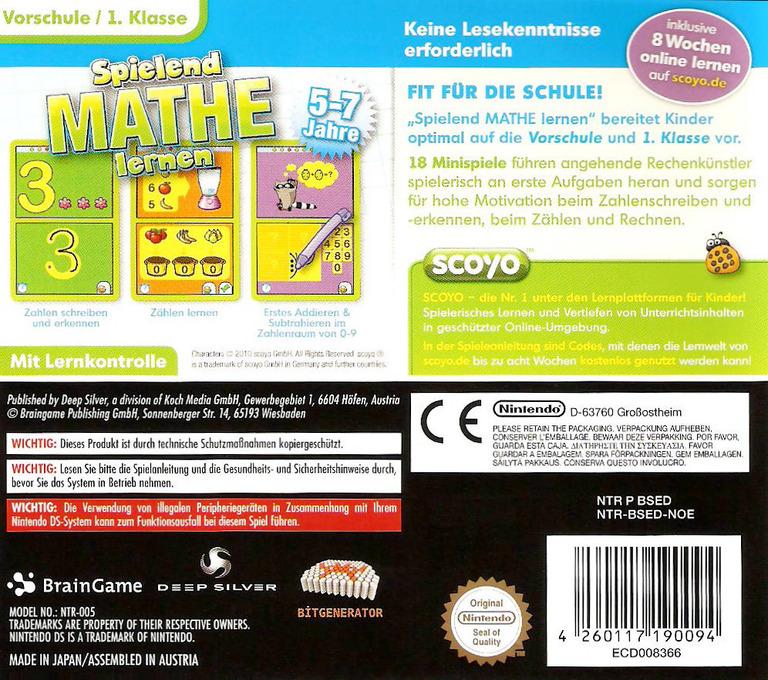 Spielend Mathe Lernen DS backHQ (BSED)