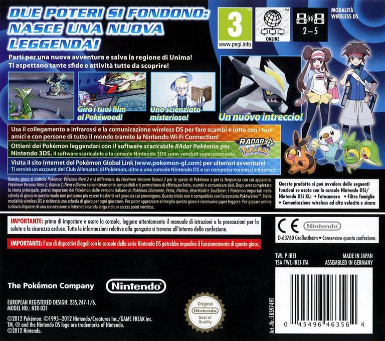 Pokémon - Versione Nera 2 DS backHQ (IREI)
