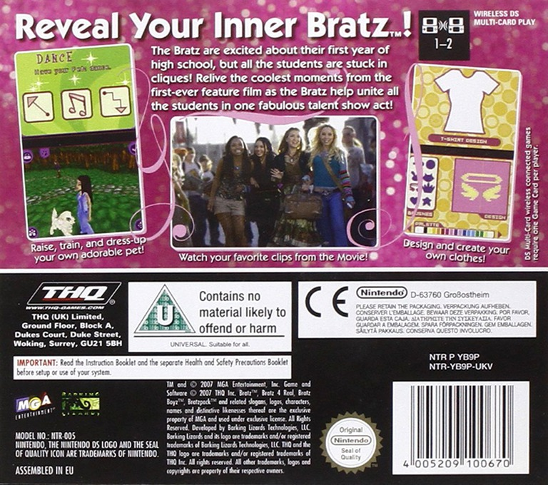 Bratz - 4 Real DS backHQ (YB9P)