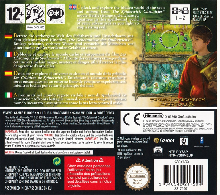 The Spiderwick Chronicles DS backHQ (YS8P)