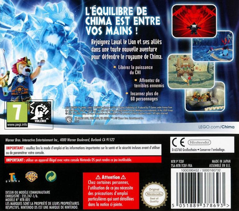 LEGO Legends of Chima - Le Voyage de Laval DS backHQ (TCBF)