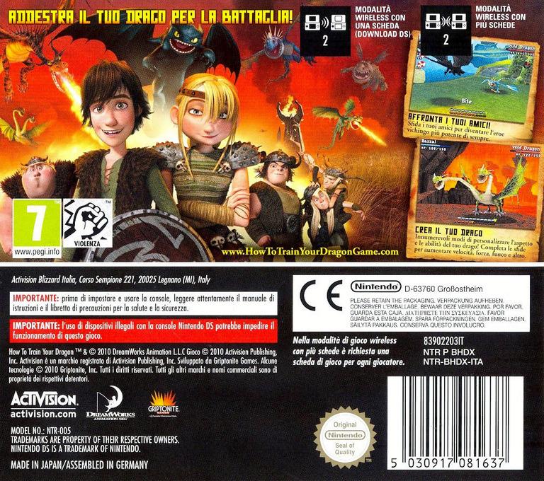 Dragon Trainer DS backHQ (BHDX)