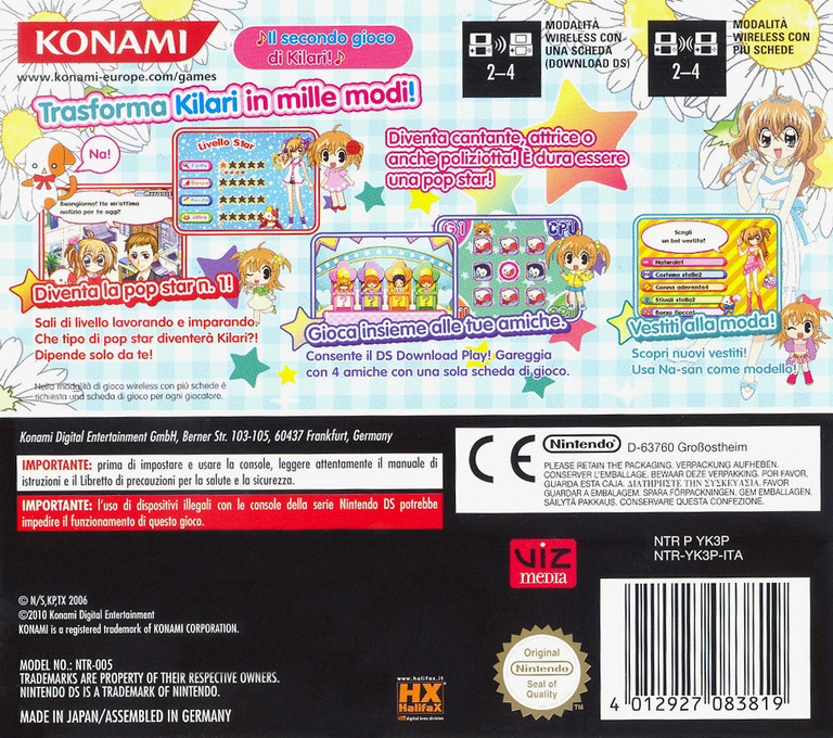 Kilari - Missione Idol Queen DS backHQ (YK3P)