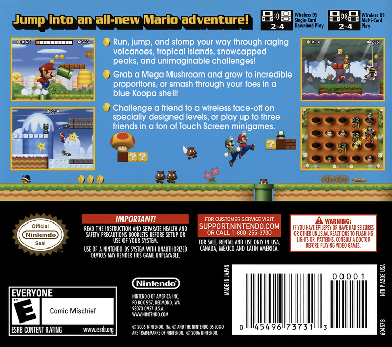 New Super Mario Bros. DS backHQ (A2DE)