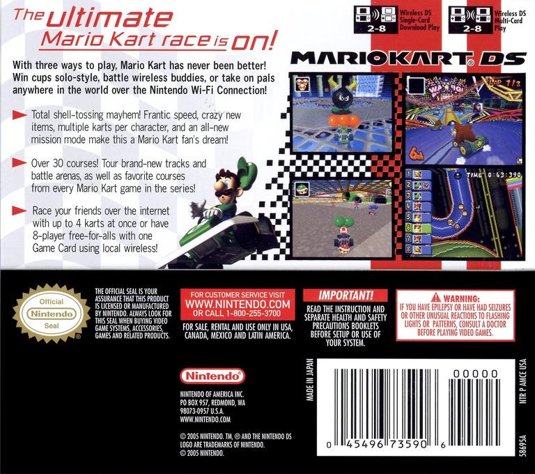 Mario Kart DS (Demo) DS backHQ (A39E)