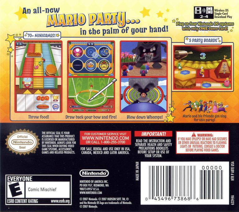 Mario Party DS DS backHQ (A8TE)